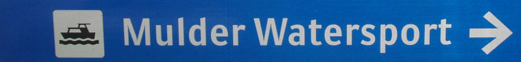 Mulder Watersport roadsign