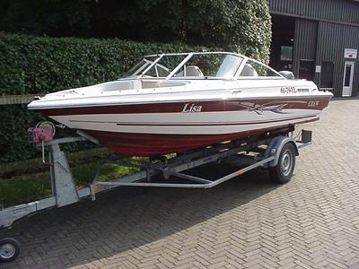Grew sportboot + Yamaha 60 pk 4-takt + geremde trailer